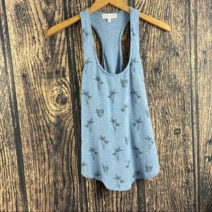 PJ Salvage Skulls & Palm Trees Blue tank Medium